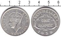 Изображение Монеты Сейшелы 1 рупия 1939 Серебро VF Георг VI