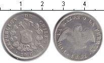 Изображение Монеты Чили 20 сентаво 1861 Серебро VF