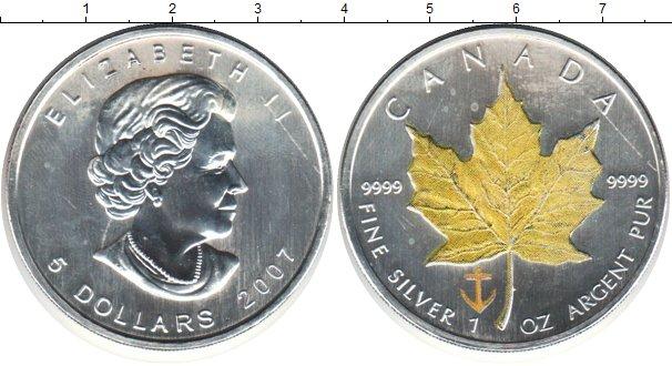 Картинка Монеты Канада 5 долларов Серебро 2007