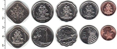Изображение Наборы монет Багамские острова Багамские острова 2005-2016 гг 2005  UNC- В наборе 5 монет ном