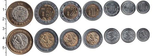 Изображение Наборы монет Мексика Мексика 2009-2014 0  UNC- В наборе 7 монет ном