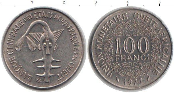 Картинка Монеты Западно-Африканский Союз 100 франков Медно-никель 1977