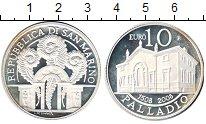 Изображение Монеты Сан-Марино 10 евро 2008 Серебро Proof- Палладио