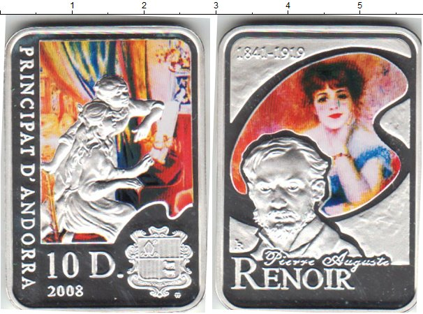 Картинка Монеты Андорра 10 динерс Серебро 2008