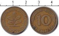 Изображение Дешевые монеты ФРГ 10 пфеннигов 1991 Медь XF
