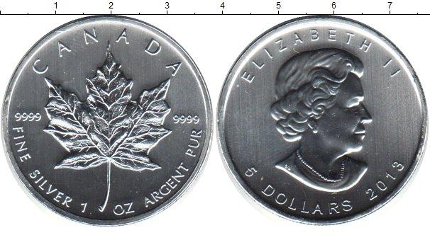 Картинка Монеты Канада 5 долларов Серебро 2013