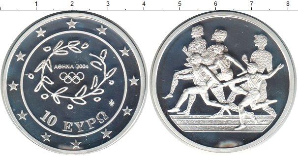 Картинка Монеты Греция 10 евро Серебро 2004