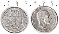Изображение Монеты Филиппины 50 сентим 1885 Серебро XF Альфонсо XII