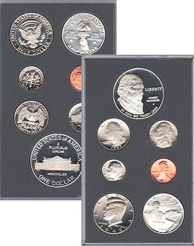 Изображение Подарочные наборы США Джеймс Мэдисон 1993 Серебро Proof-