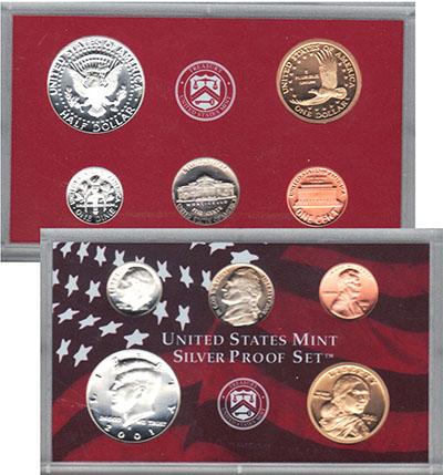 Изображение Подарочные монеты США Пруф-сет 2001 года 2001 Серебро Proof Подарочный набор пру