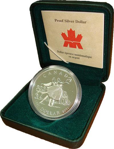 Изображение Подарочные наборы Канада Балет 2001 Серебро Proof Представляем Вашему