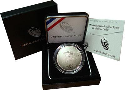 Изображение Подарочные монеты США Бейсбольный мяч 2014 Серебро Proof Представляем Вашему