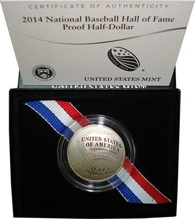 Изображение Подарочные монеты США Бейсбольный мяч 2014 Медно-никель Proof