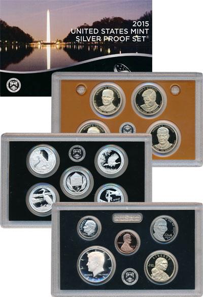 Изображение Подарочные наборы США Прекрасная Америка 2015 Серебро Proof Представляем Вашему