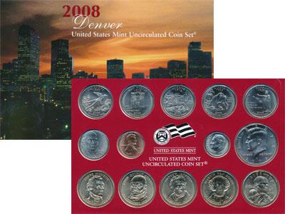 Изображение Подарочные монеты США Выпуск 2008 года 2008  UNC `Представляем Вашему