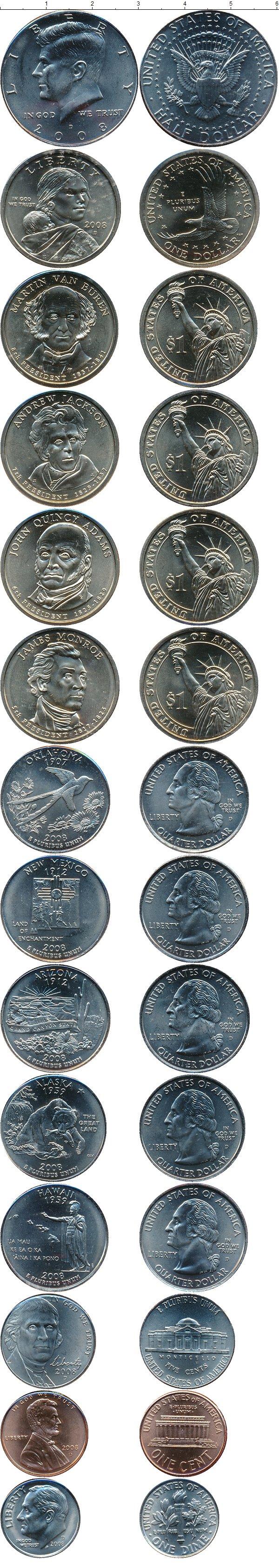 Картинка Подарочные монеты США Выпуск 2008 года  2008