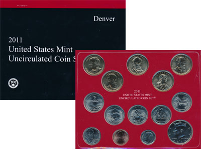 Изображение Подарочные монеты США Выпуск 2011 года 2011  UNC `Представляем Вашему