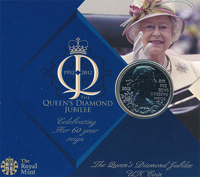 Изображение Подарочные наборы Великобритания Бриллиантовый юбилей 2012 Медно-никель AUNC Подарочная монета по