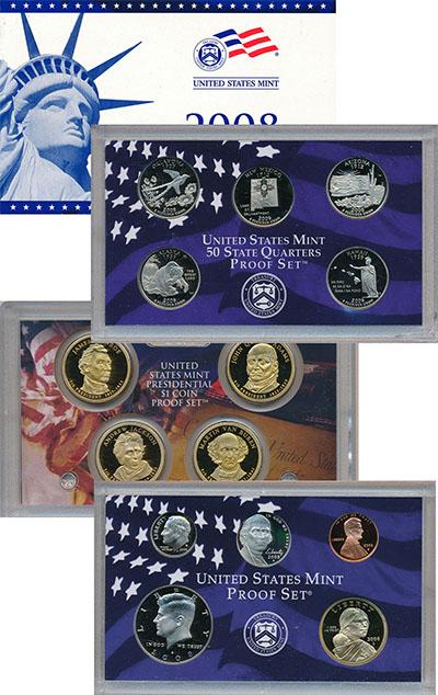 Изображение Подарочные наборы США Пруф-сет 2008 года 2008  Proof `Подарочный набор пр