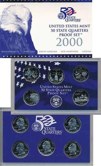 Изображение Подарочные наборы США Квотеры Пруф-сет 2000 Медно-никель Proof