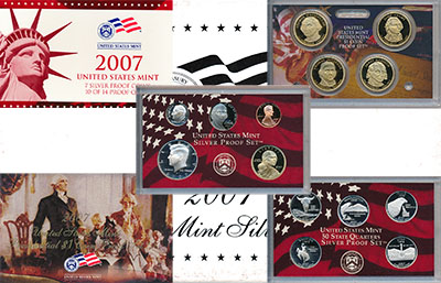 набор монет - сша выпуск 2007 silver-proof-set - подробная информация фото 1