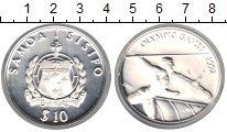 Изображение Монеты Самоа 10 тала 1992 Серебро Proof-