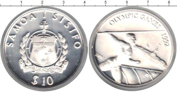 Картинка Монеты Самоа 10 тала Серебро 1992