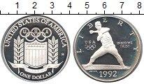 Изображение Монеты США 1 доллар 1992 Серебро Proof- Олимпиада 1992