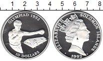 Изображение Монеты Соломоновы острова 10 долларов 1992 Серебро Proof- Елизавета II. Олимпи