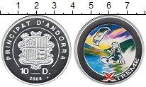 Изображение Монеты Андорра 10 динерс 2008 Серебро Proof- Экстремальные виды с