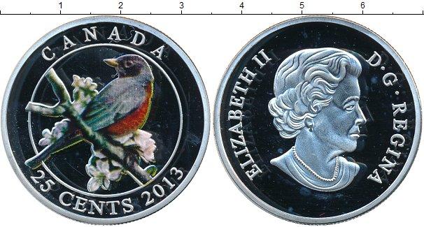 Картинка Монеты Канада 25 центов Серебро 2013
