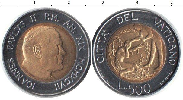 Картинка Монеты Ватикан 500 лир Биметалл 1997