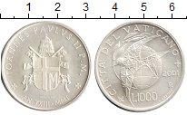 Изображение Монеты Ватикан 1.000 лир 2001 Серебро UNC Голубь