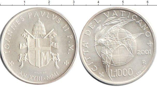 Картинка Монеты Ватикан 1.000 лир Серебро 2001