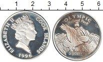 Изображение Монеты Острова Кука 2 доллара 1996 Серебро Proof- Орел.