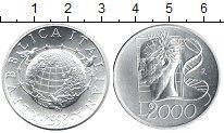 Изображение Монеты Италия 2000 лир 1998 Серебро UNC Знания