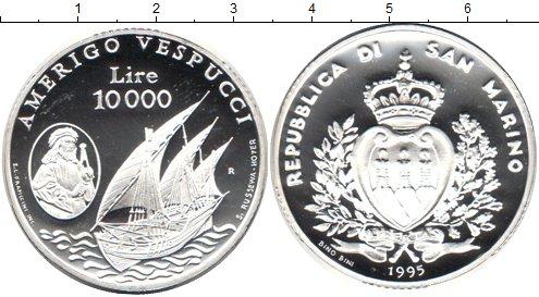 Картинка Монеты Сан-Марино 10.000 лир Серебро 1995
