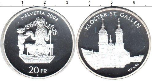 Картинка Монеты Швейцария 20 франков Серебро 2002