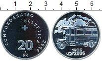 Изображение Монеты Швейцария 20 франков 2006 Серебро UNC Автобус