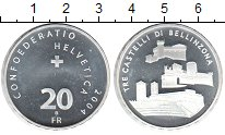 Изображение Монеты Швейцария 20 франков 2004 Серебро UNC Крепость
