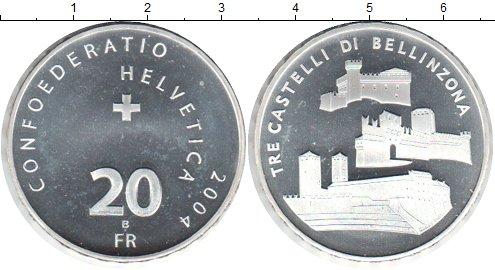 Картинка Монеты Швейцария 20 франков Серебро 2004