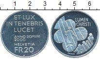 Изображение Монеты Швейцария 20 франков 2000 Серебро UNC