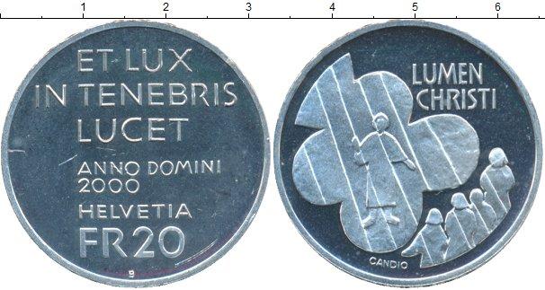 Картинка Монеты Швейцария 20 франков Серебро 2000