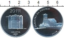 Изображение Монеты Швейцария 20 франков 2001 Серебро UNC Крепость