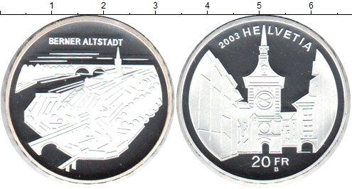 Картинка Монеты Швейцария 20 франков Серебро 2003
