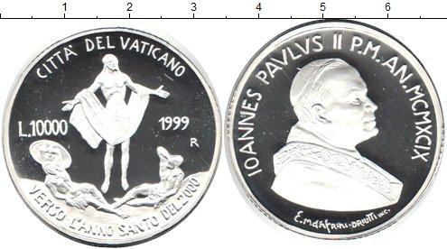 Картинка Монеты Ватикан 10.000 лир Серебро 1999