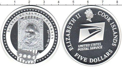 Картинка Монеты Острова Кука 5 долларов Серебро 2004