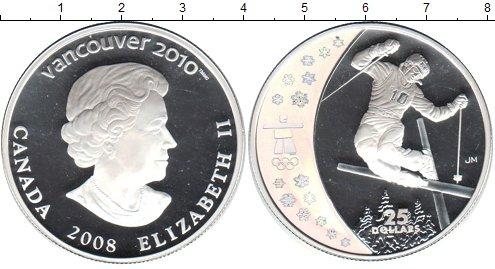 Картинка Монеты Канада 25 долларов Серебро 2009