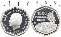 Изображение Монеты Испания 1500 песет 1999 Серебро Proof Корабли. Открытый ко