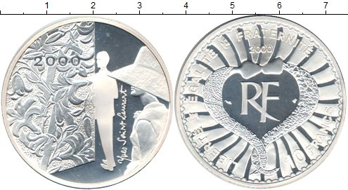 Картинка Монеты Франция 10 франков Серебро 2000